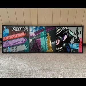 Other - graphic three frame 1ft x 3ft canvas photo